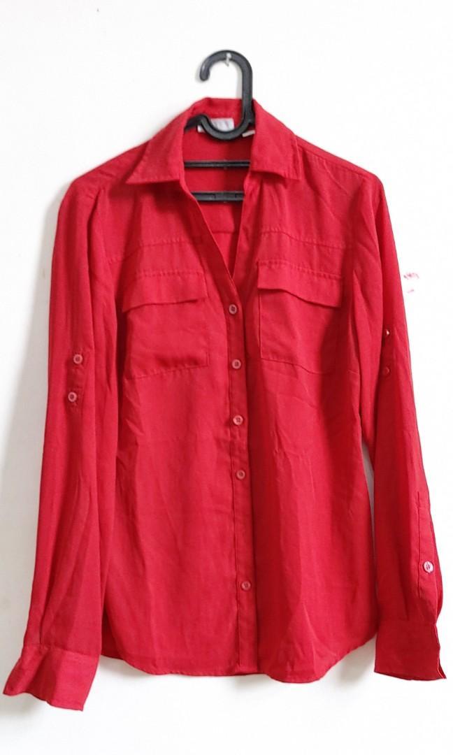 Kemeja Merah  Size XS #oktoberovo #mauovo