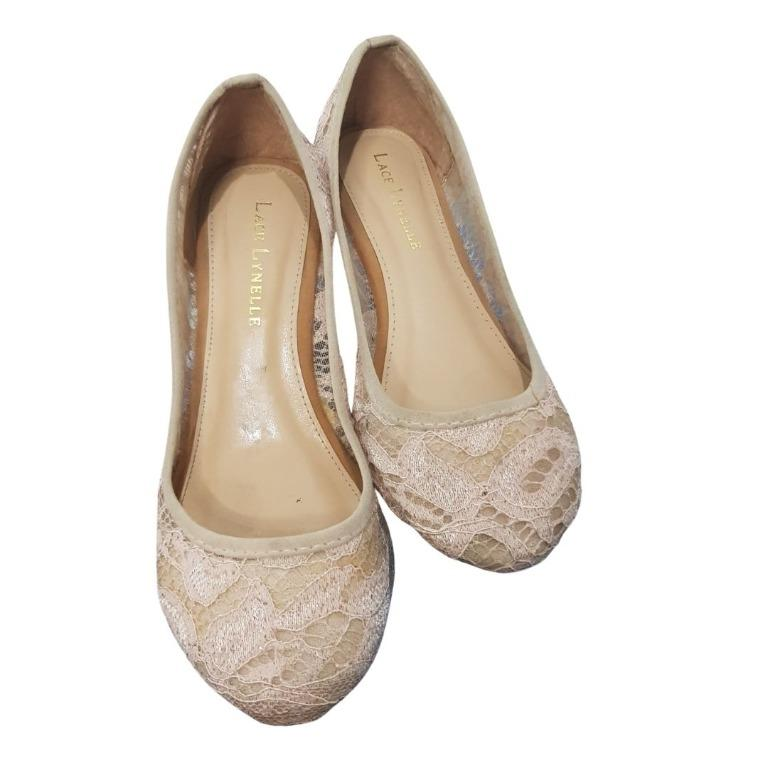Lace lynelle lace wedges #oktoberovo