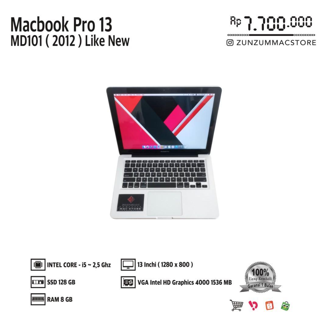 Macbook Pro 13 MD101 MID 2012 Core i5 Ram 8 GB SSD 128 GB Like New