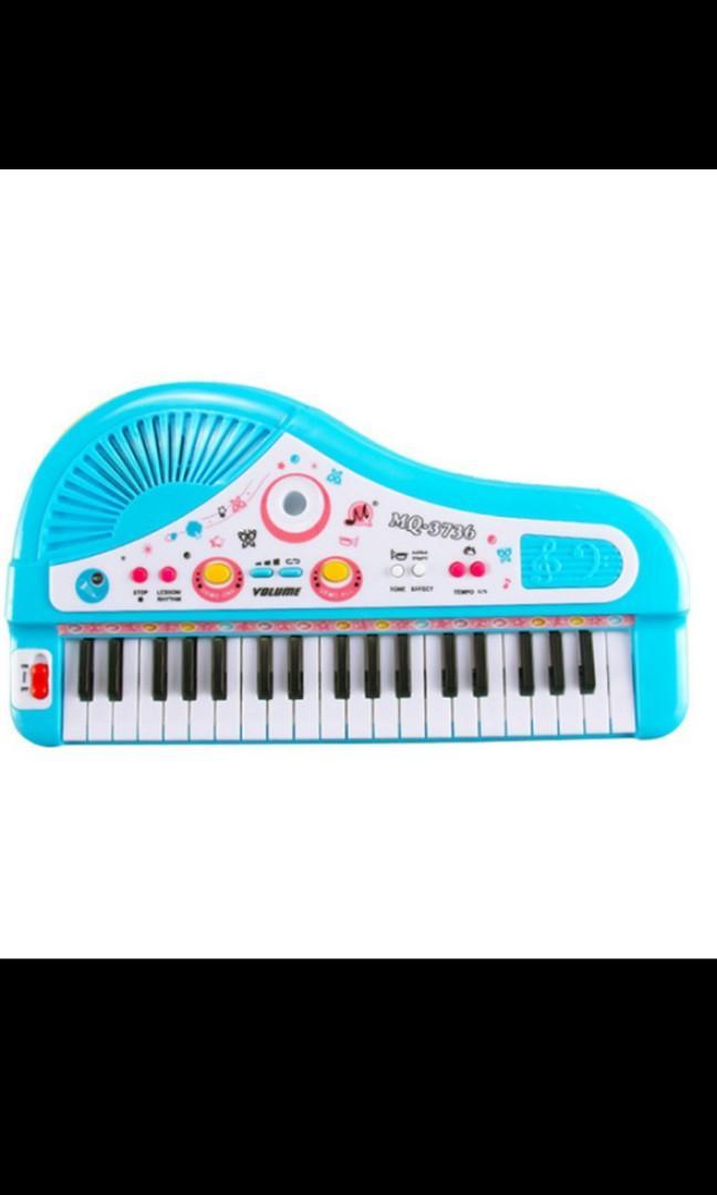 Mainan Keyboard dengan Microphone Preloved / Mainan Piano Anak dengan Mic
