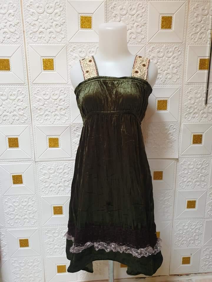 #mauovo Dress vintage hijau