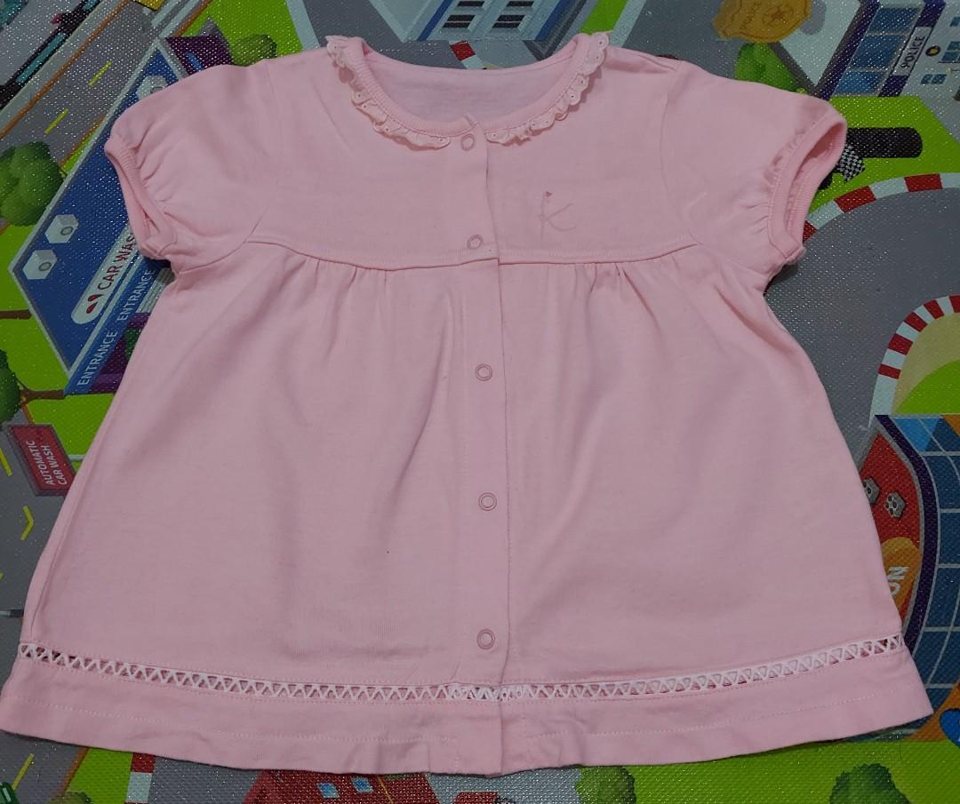 Mini dress baby import 24bln warna pink
