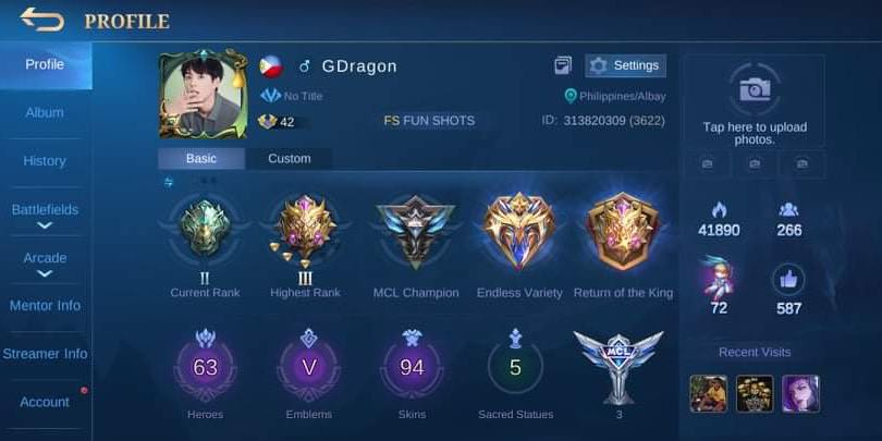 Mobile Legends Account Fb And Moonton Bind Video Gaming Video Games On Carousell