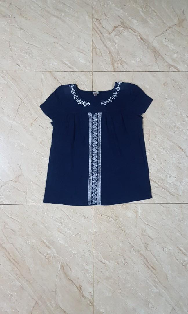 Navy Top blouse