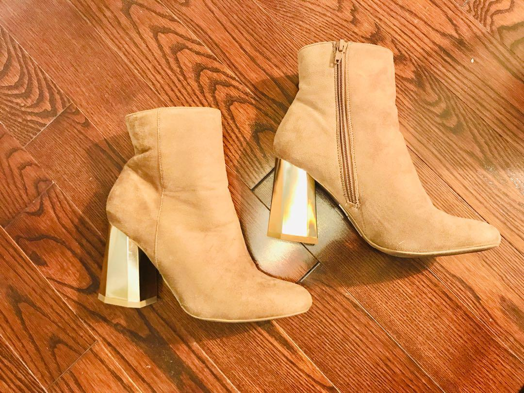 Never Worn Tan Suede Boots