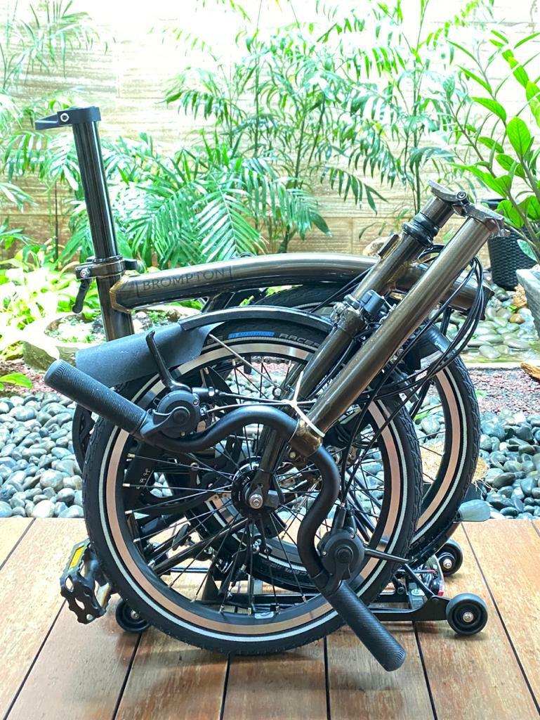NEW Brompton H6RD Black Edition Raw Laquer