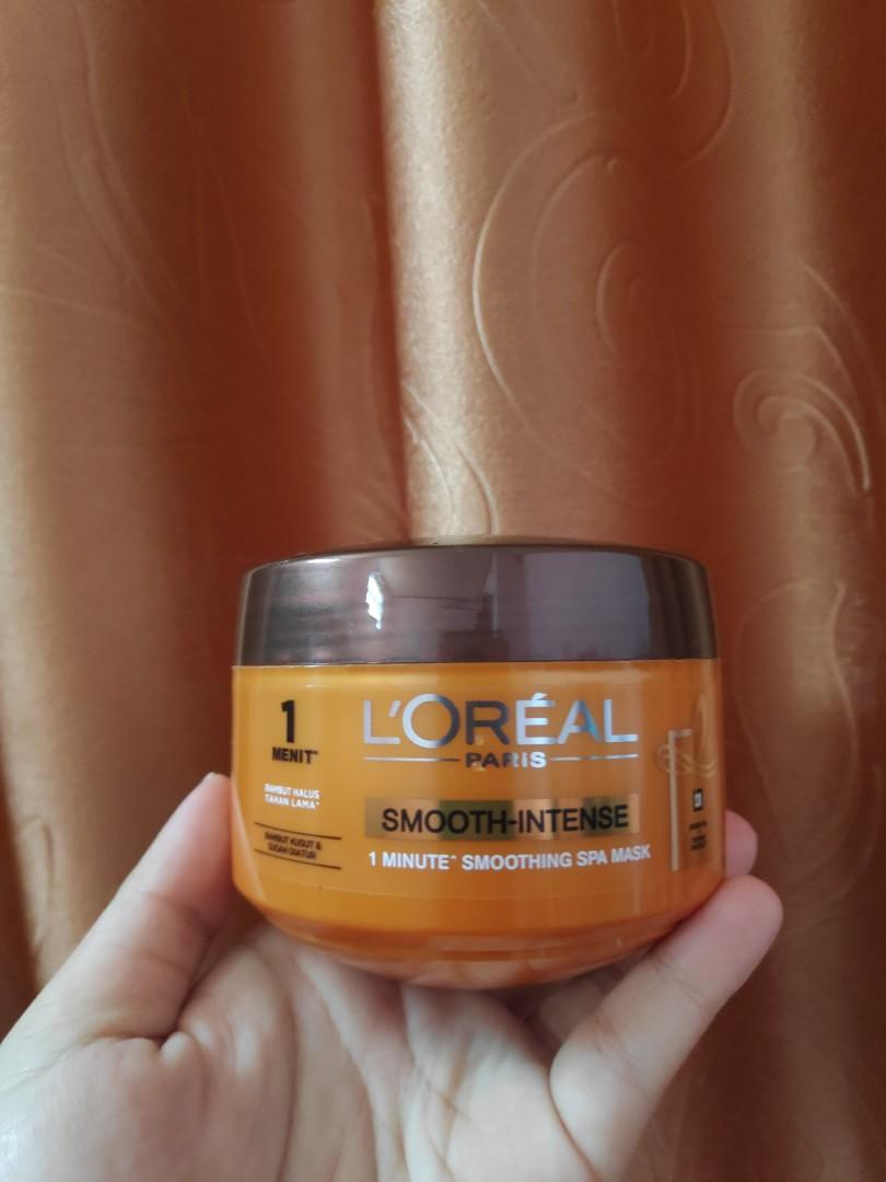 NEW Loreal smooth intense hair mask, extraordinary oil #mauovo