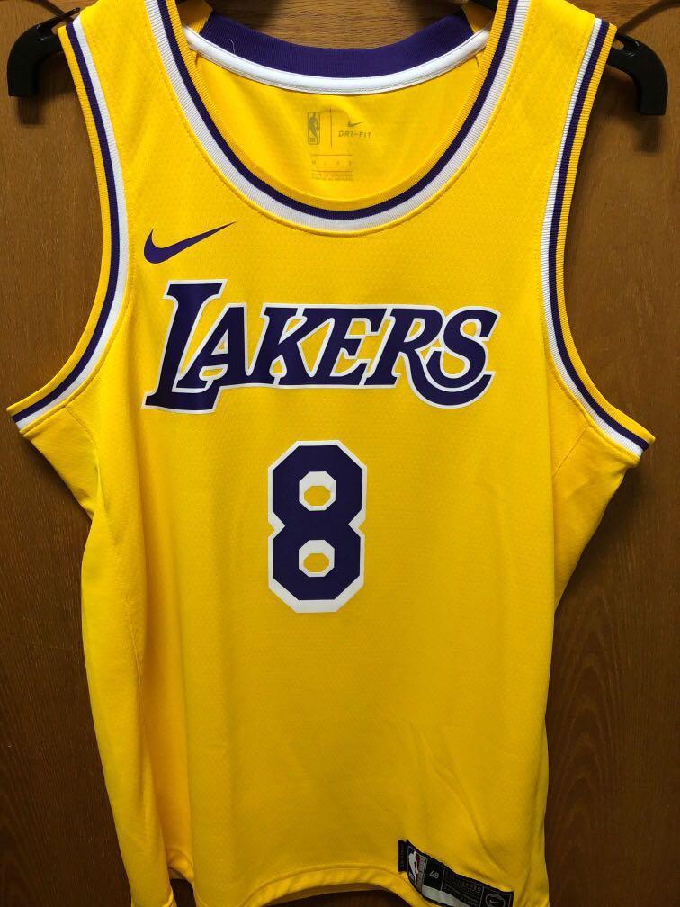 NIKE NBA Kobe Bryant 主場黃 湖人 球衣