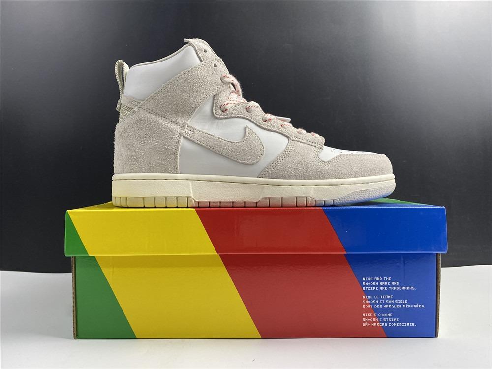 Nike SB Dunk High Pro Shoes Strawberry Cough CW3092-100 Men and Women Size EU36-46 US5.5-13