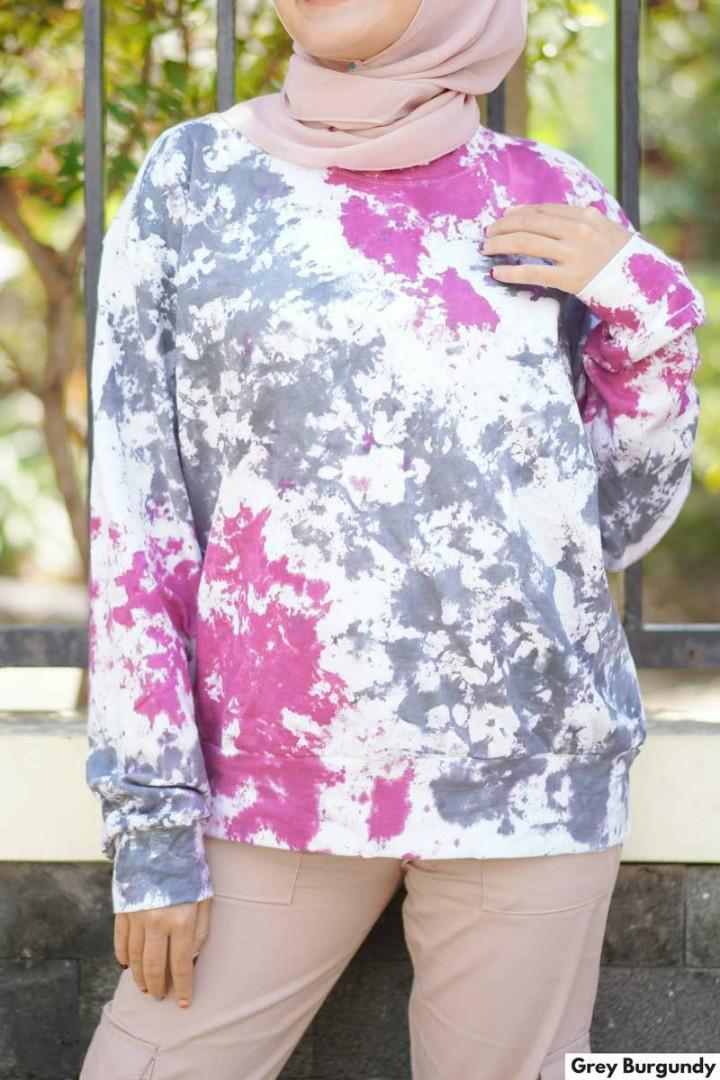 #oktoberovo colour run sweater pink purple