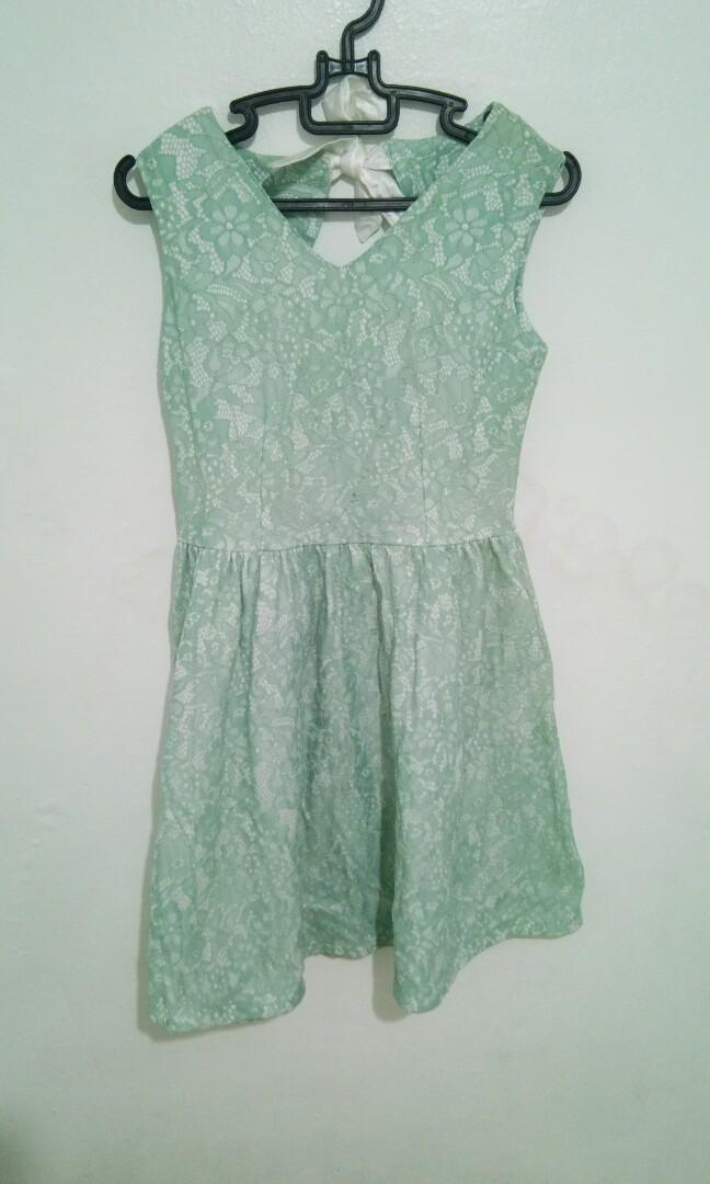 #oktoberovo Green Lace Dress