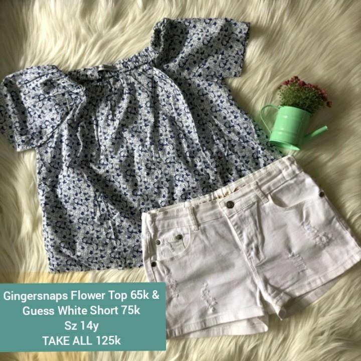 #Oktoberovo Preloved Gingersnaps tee & Guess white Short