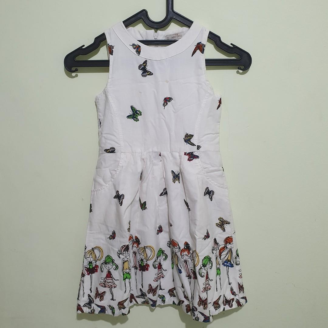 #oktoberovo Preloved PITO DITO flare dress sleeveless size 7-8