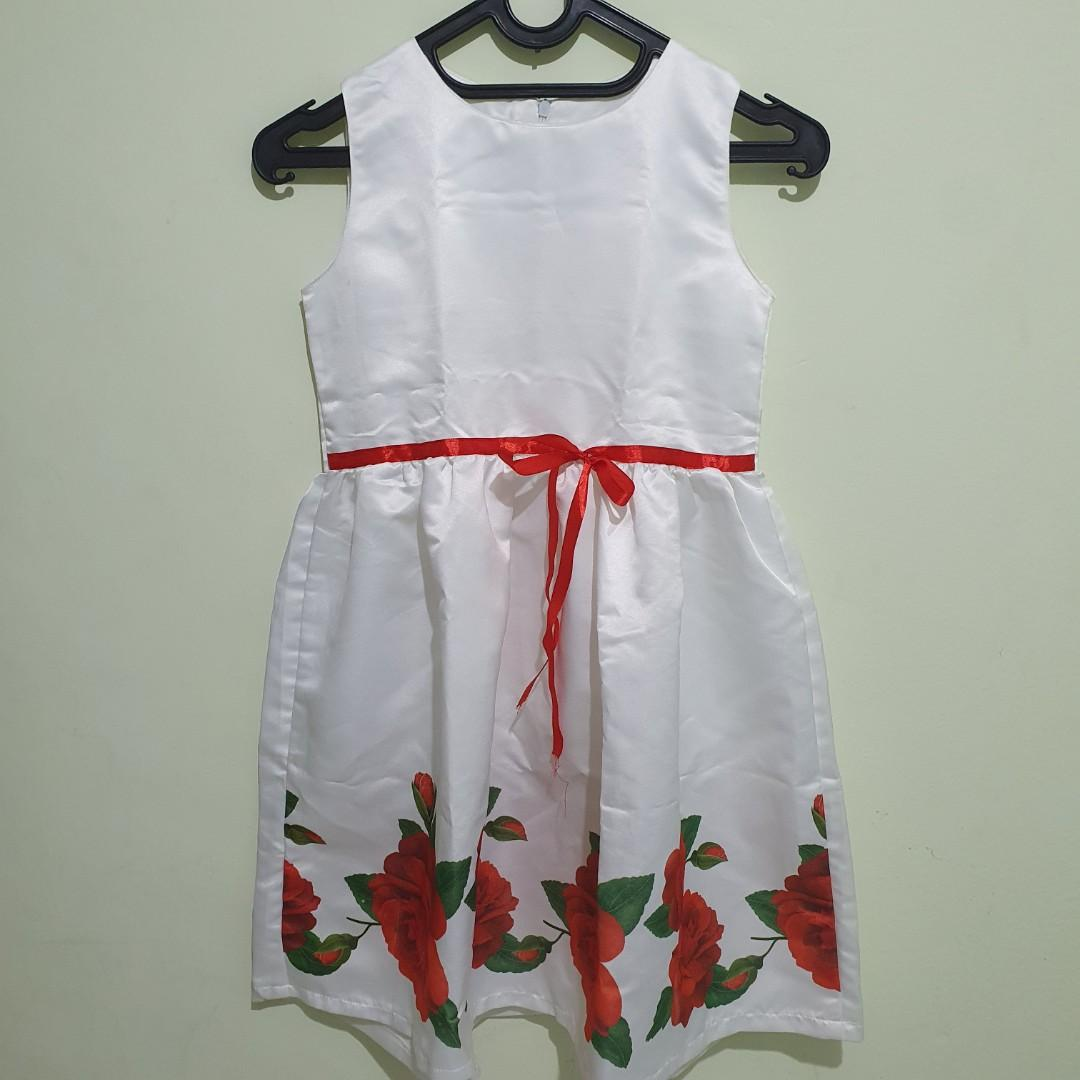 #oktoberovo Preloved SENSHUKEI White Dress Sleeveless Size 12y