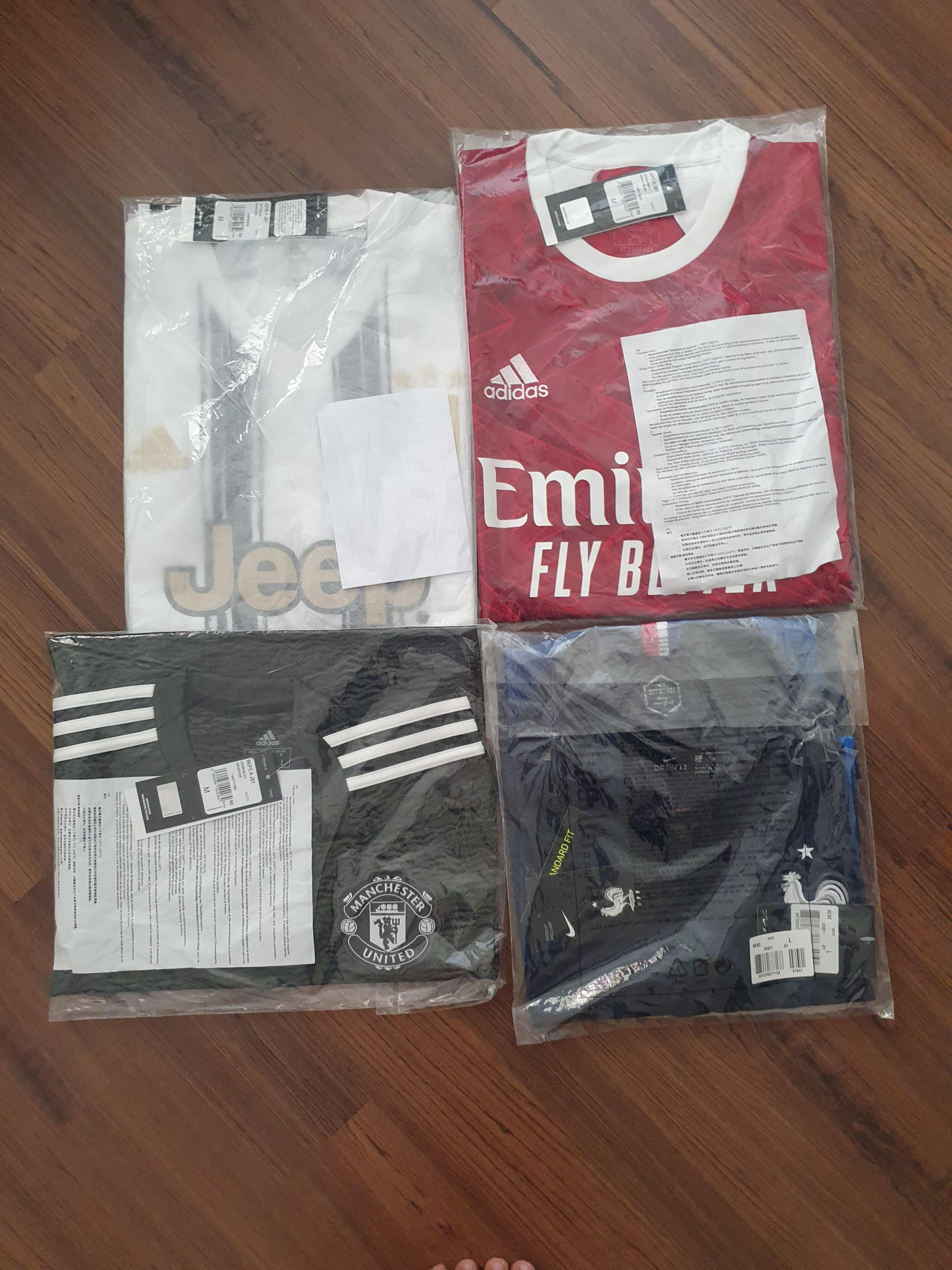 Original Manchester United, Arsenal, Juventus, France - all BNWT