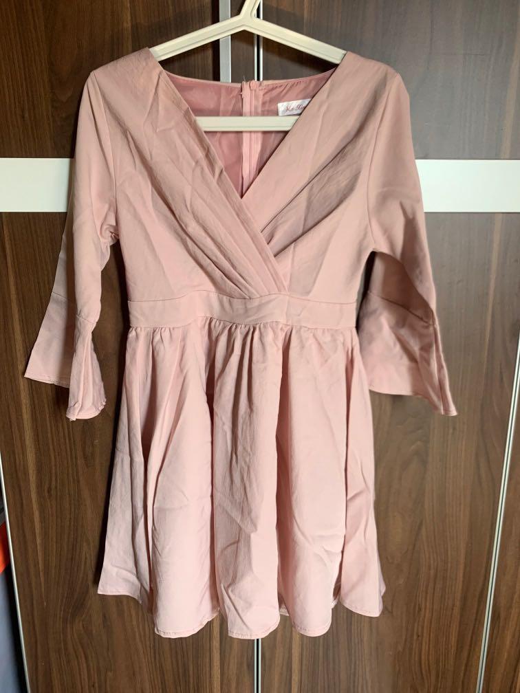 #oktoberovo Pastel Pink Korean Dress