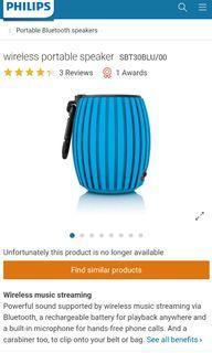 Philips Portable Bluetooth Speaker