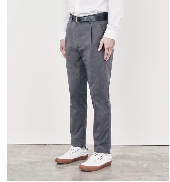 Plain me 1616 loka修身長褲 灰色