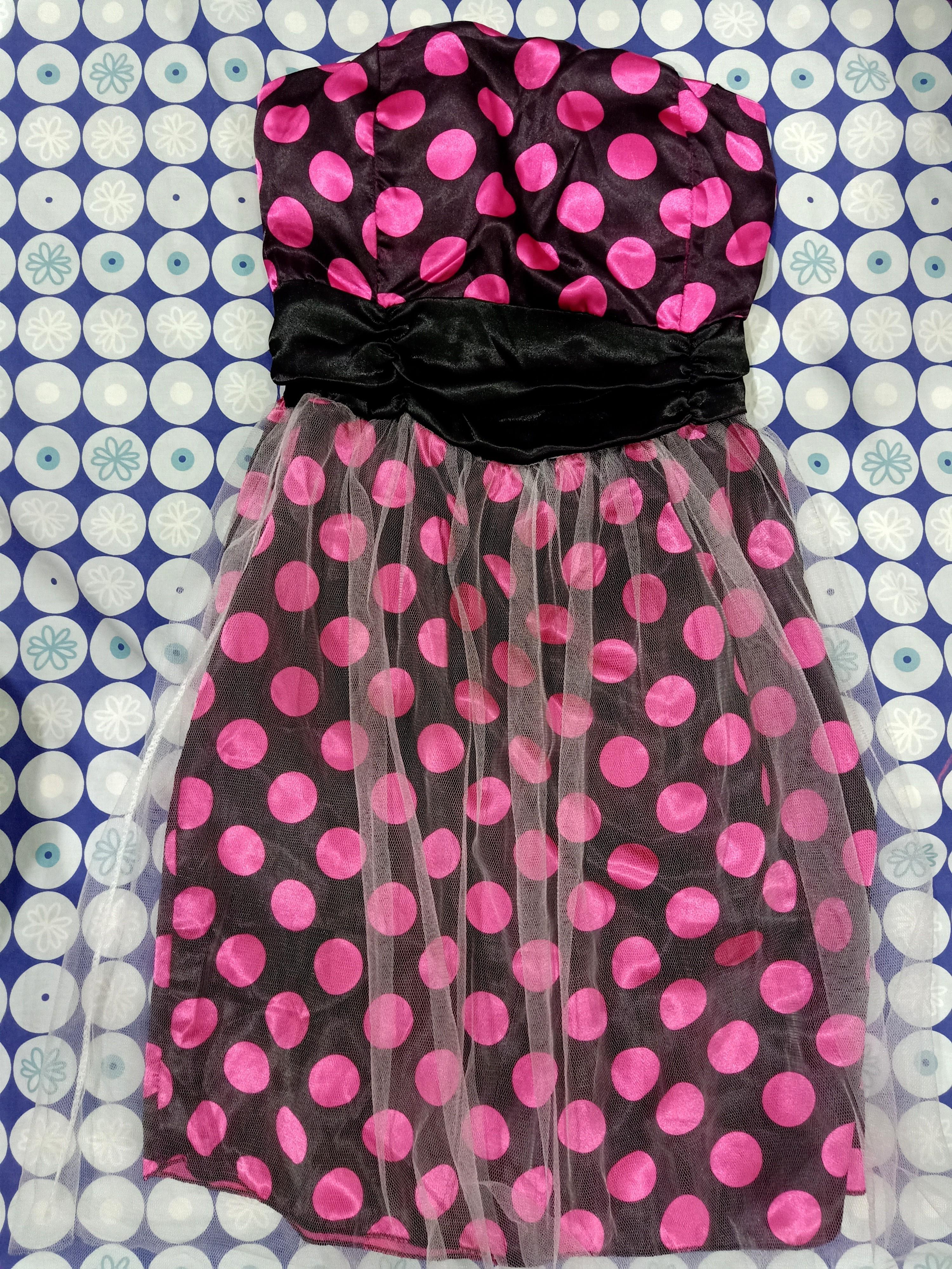 ⭐Polka Hot Pink Party Dress