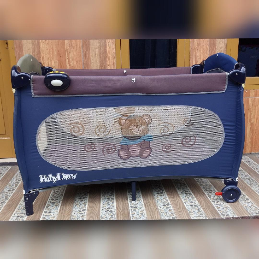 Preloved Box Bayi Navy Brown Baby Does Biru Tua Kopo Murah Bandung #oktoberovo