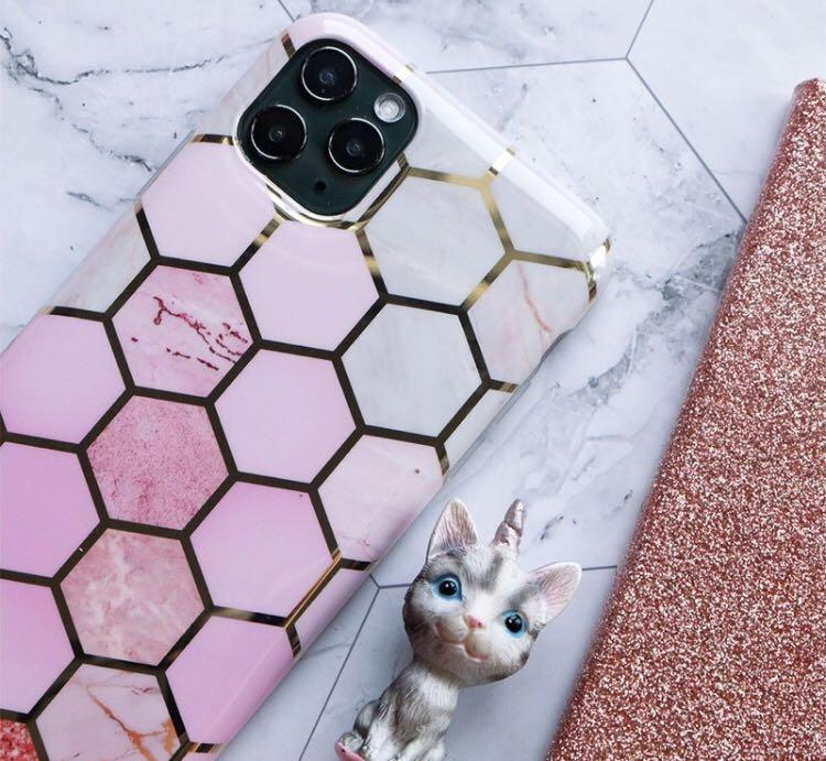 READY CASE HEXAPINK MARBLE GLOSSY