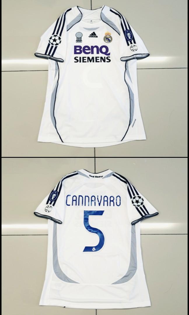Real Madrid 06-07 Home Jersey UEFA Champions League #5 CANNAVARO