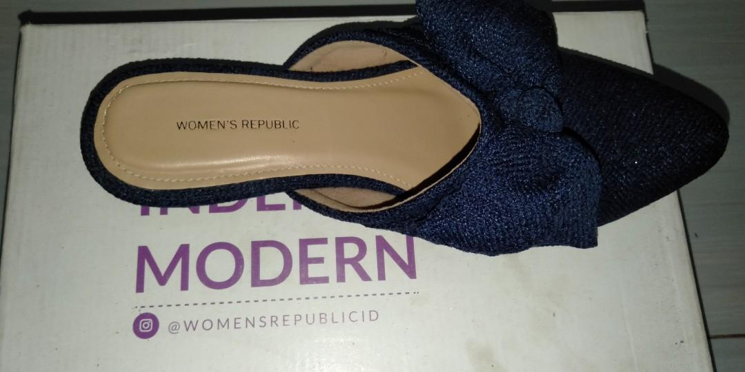 Sendal slip on women's republic ori plus kardus