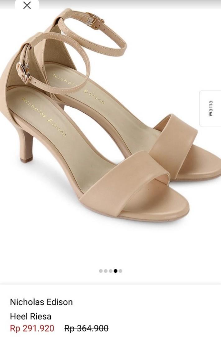 Sepatu pesta beige cream