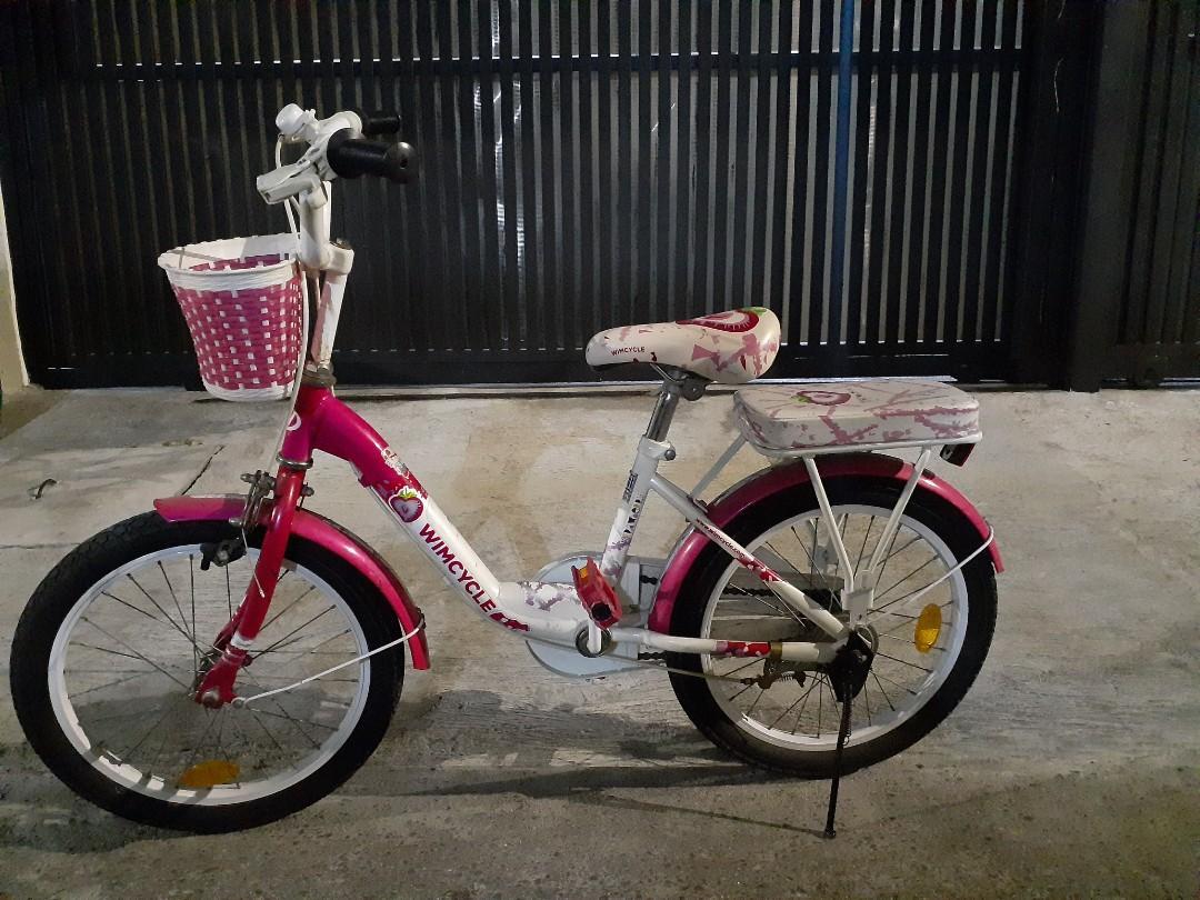 Sepeda anak Wimcycle strawberry electra 18