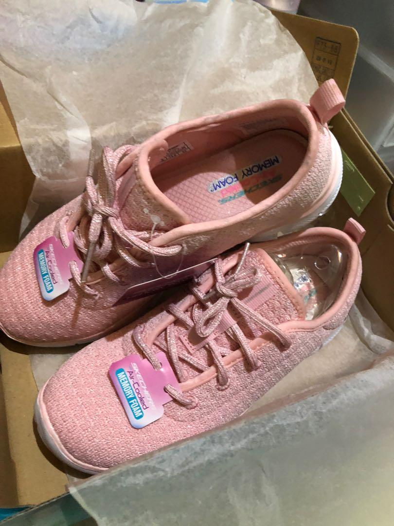 skecher size 33 fit to 34-35 pink baru peach new