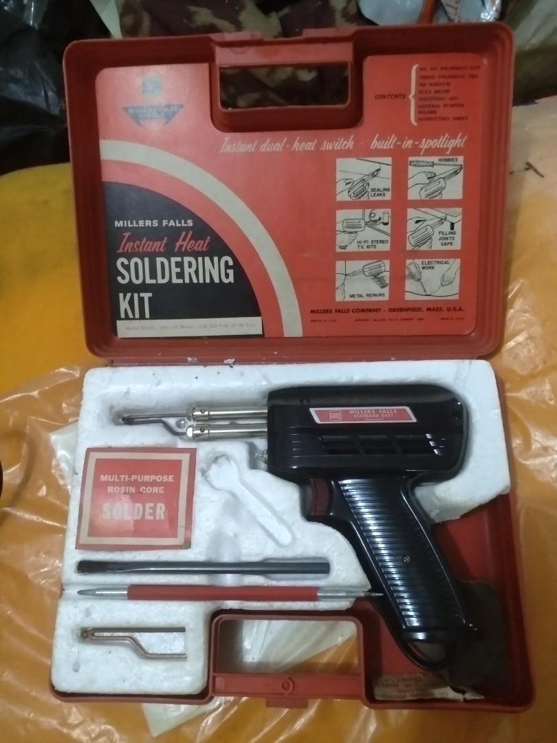Soldering kit merek miller's falls tipe S6410 vintage