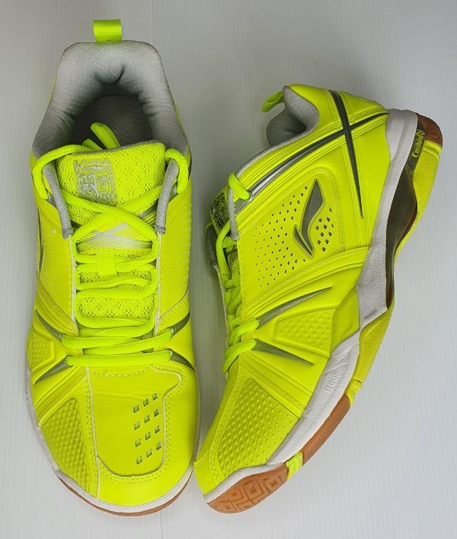 SPECIAL!!! CP (CHINA PLAYER) VERSION LI-NING AYAJ007 ZHANG NAN LIU YUCHEN 2014-2016 SEASONS Men's Green Shoe Size Euro 41.5 or 26cm