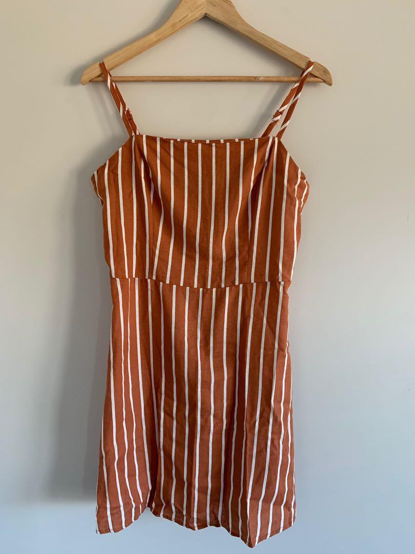 Stripey mini dress
