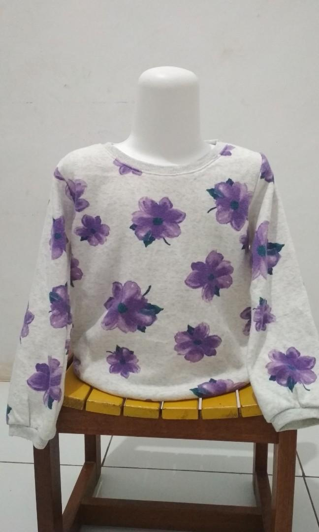 Sweater anak bunga