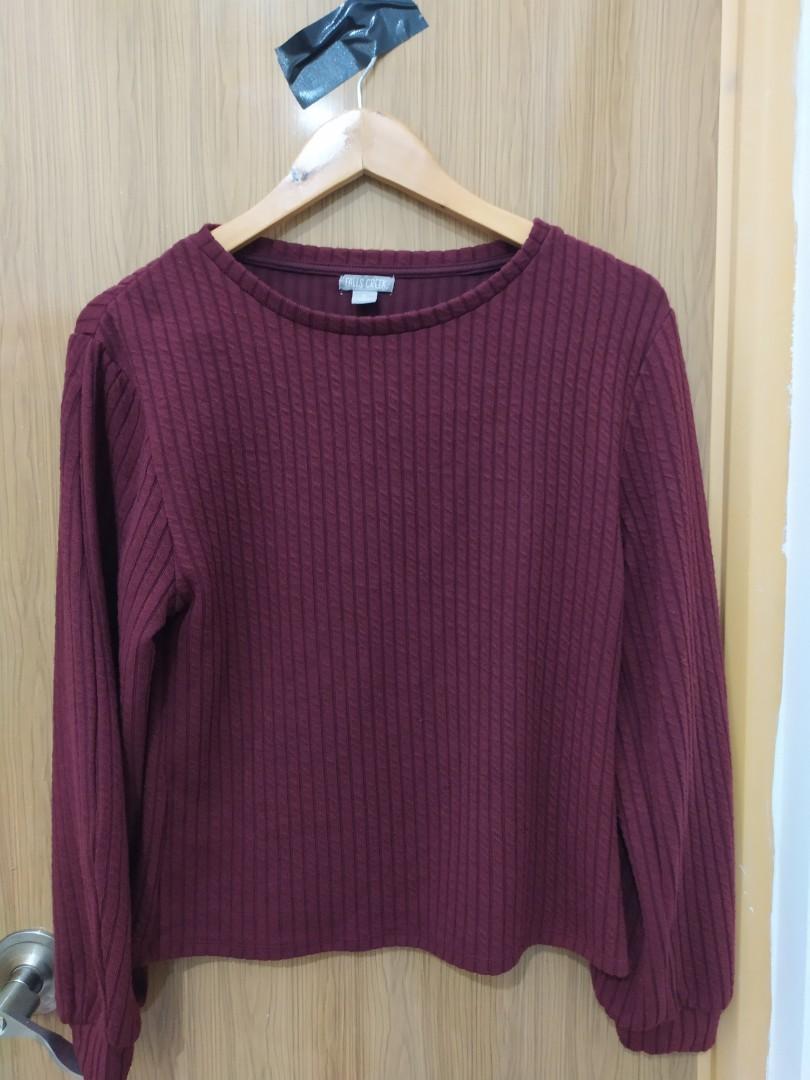 Sweater maroon #oktoberovo