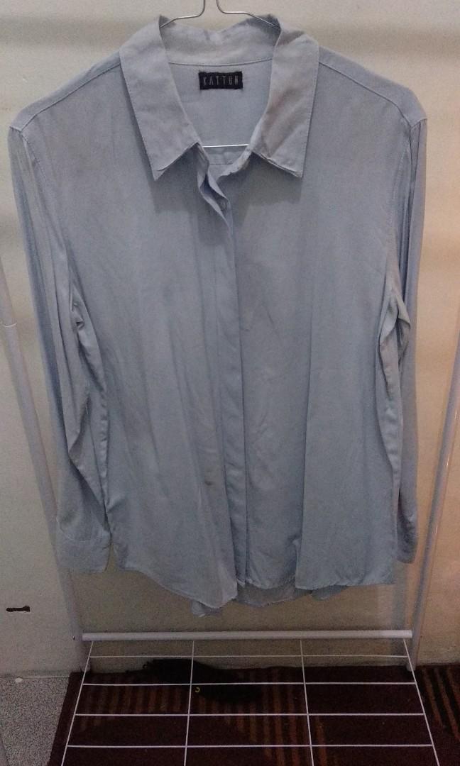 T2020 Daily Basic Shirt Sky Blue by Bajubojo Preloved