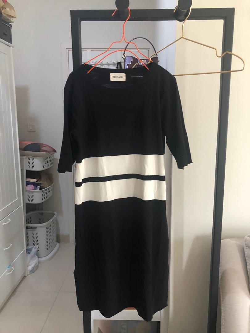 This is april knit dress