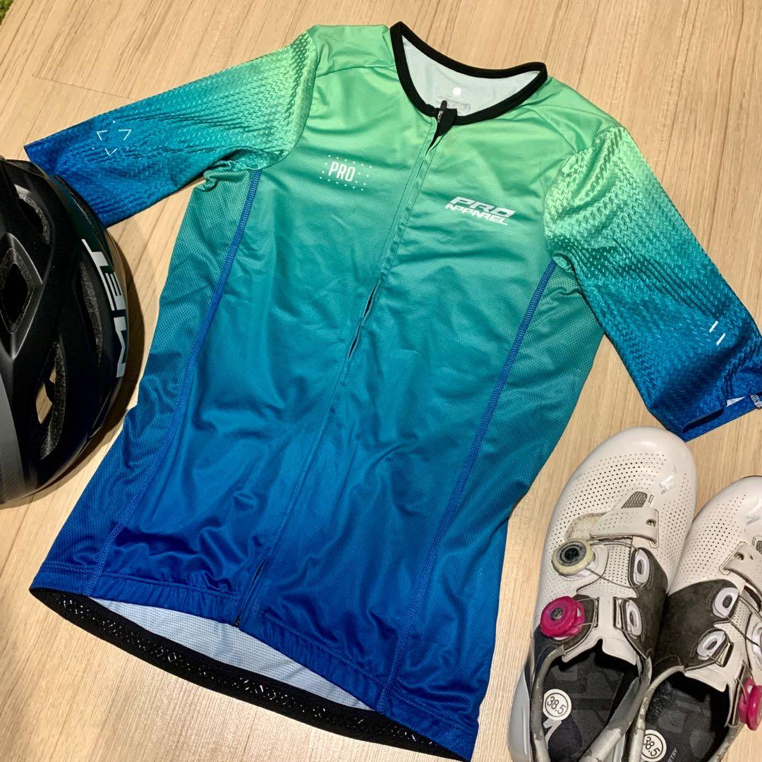 Turquoise cycling jersey (Pro Apparel)