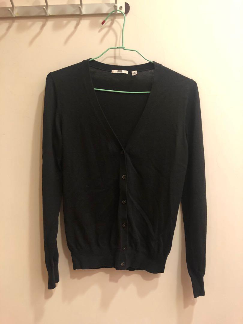UNIQLO 黑色針織薄外套