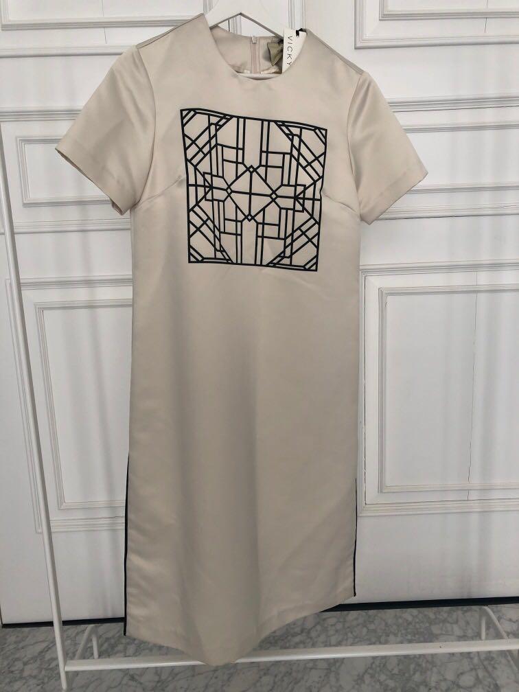 Vicky Svpit print dress