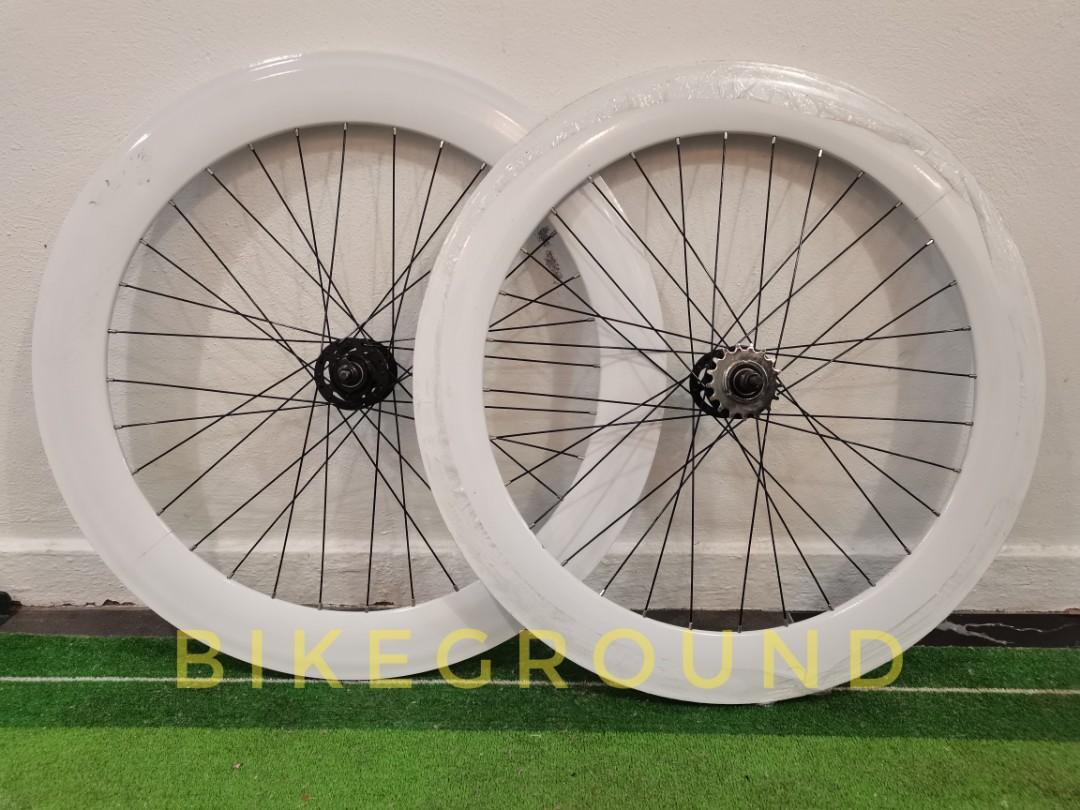 Wheelset Fixie 700c 69mm Alloy Fixed Gear Bicycle Basikal