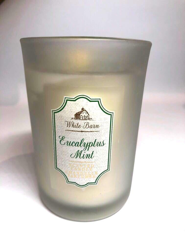 White Barn BBW eucalyptus mint candle
