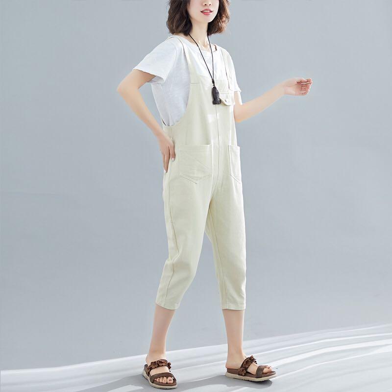 White denim jumpsuit db 34