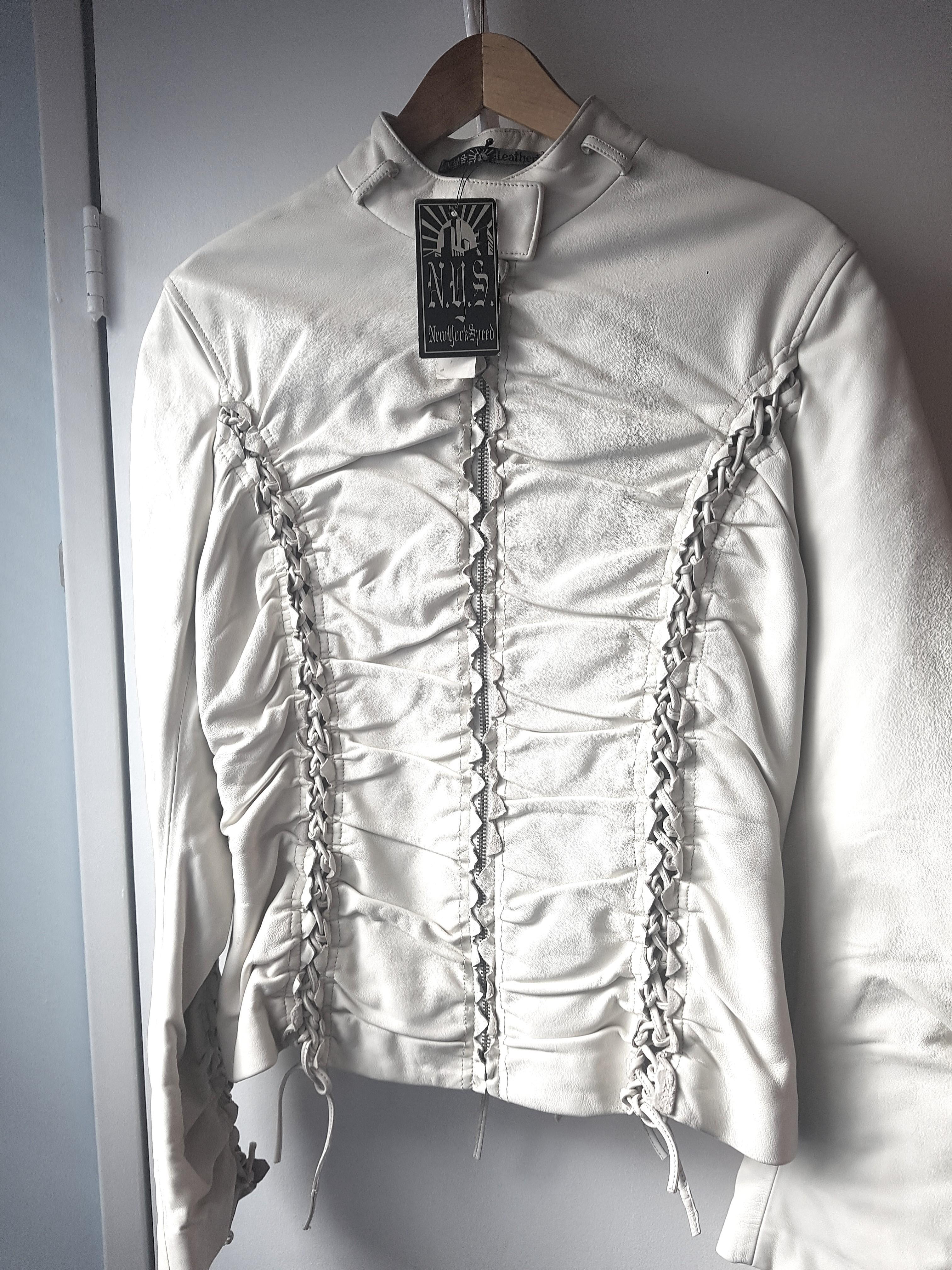 White Leather Jacket BNWT