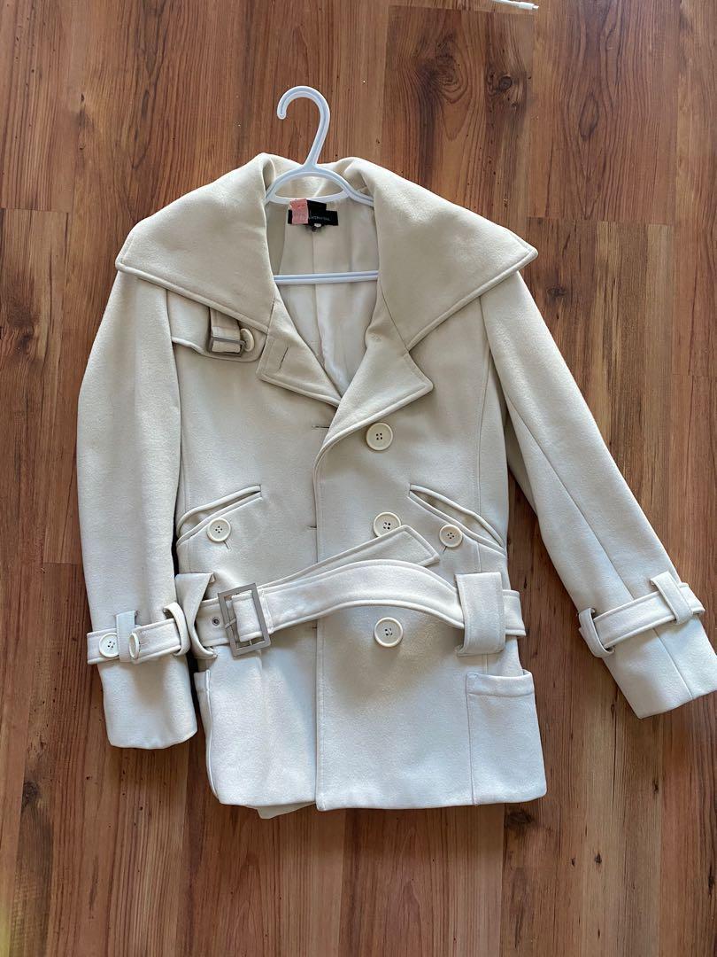 White Peacoat / Jacket Size Small