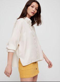 Wilfred Free Tanis Button Down in Matte Pearl