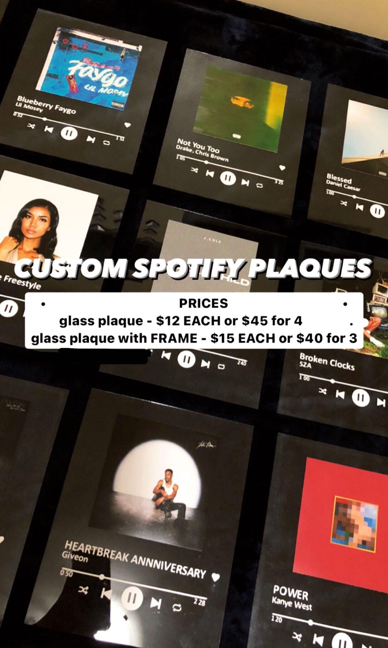 y2k CUSTOMIZABLE spotify song plaques