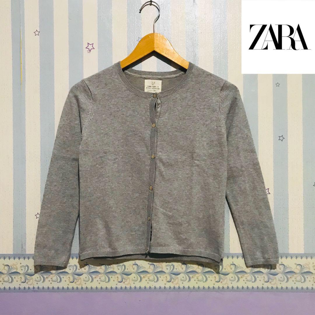 ZARA GIRL's Winter Collection Cardigan Misty Grey / Sweater Jacket Outer Jaket Hoodie Uniqlo#oktoberovo