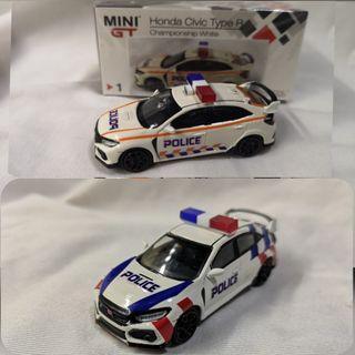 1:64 MiniGT diecast Honda Civic Type R FK8 in SPF GRF FRC or TP FRC