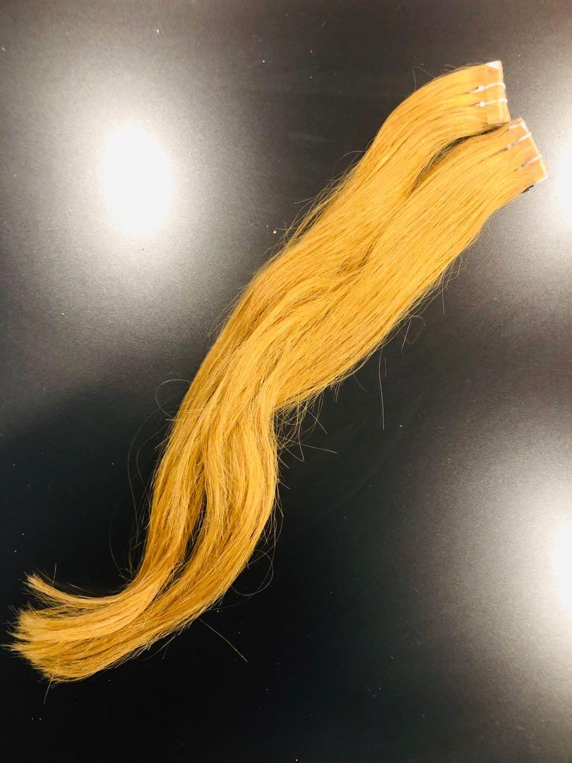 "20"" Tape in hair extensions 100% human hair"
